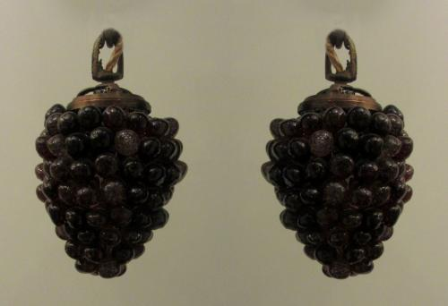A charming pair of 'grape' styled lights