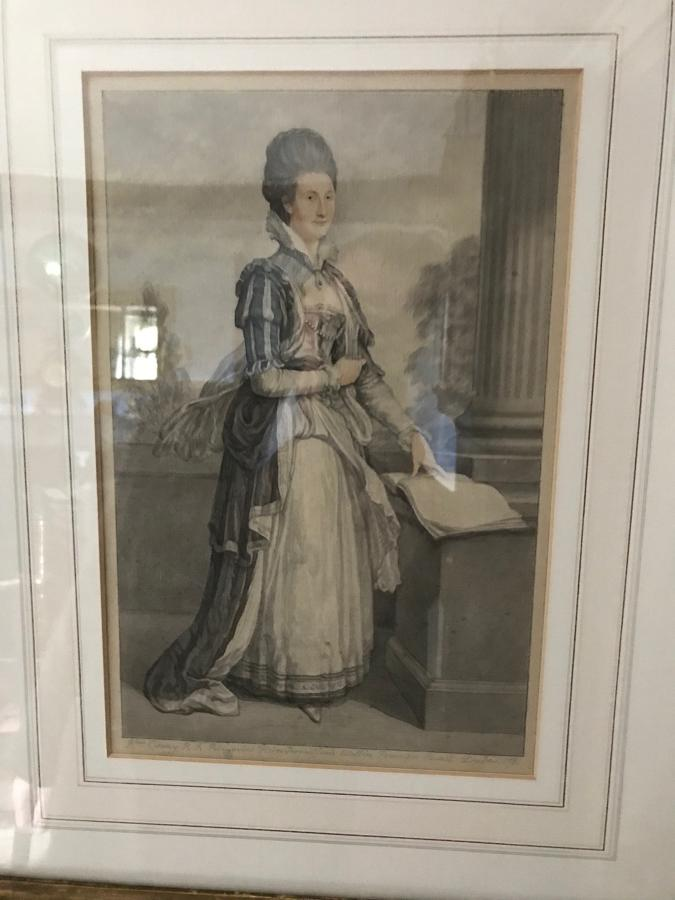 A Portrait of a Noble Woman signed by Cosway