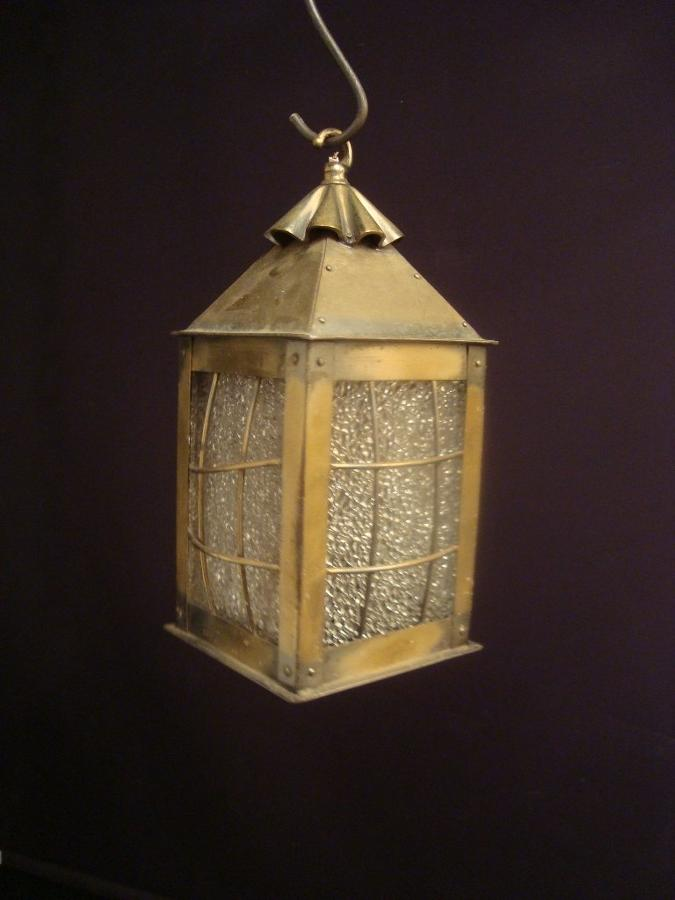A small Arts and crafts style lantern
