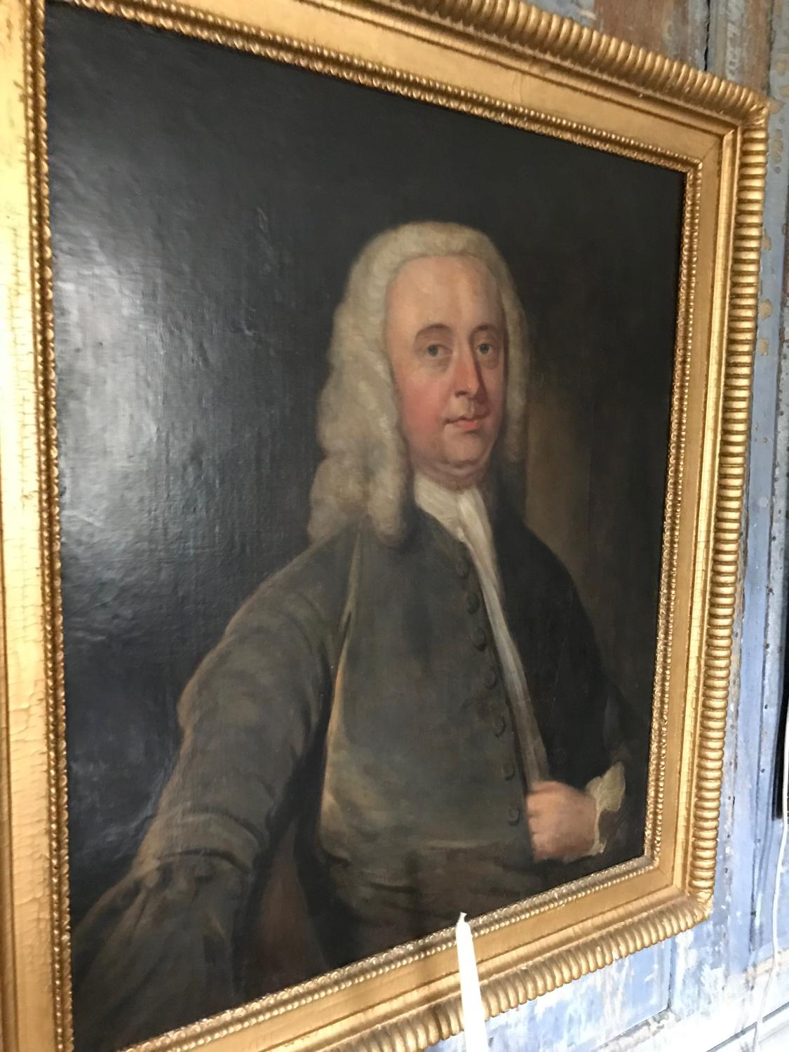 Portrait of a country gentleman with a wig