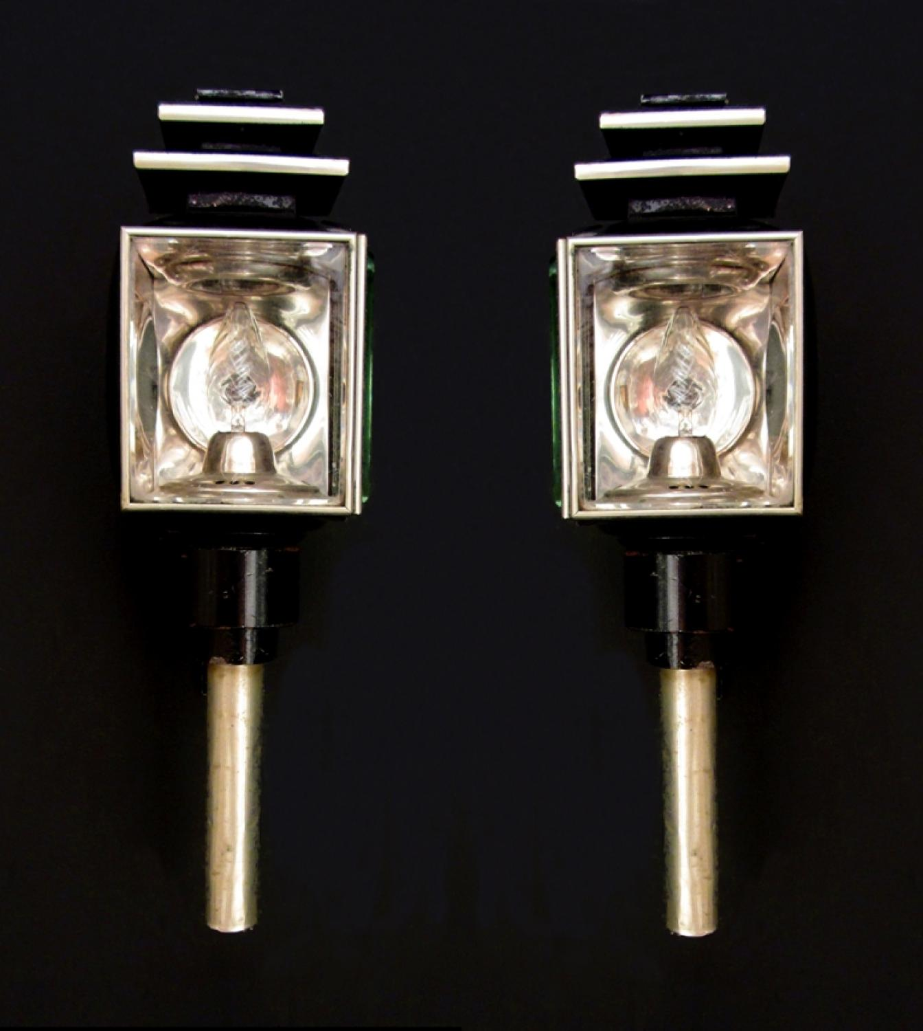 A pair of Victorian carriage lamps