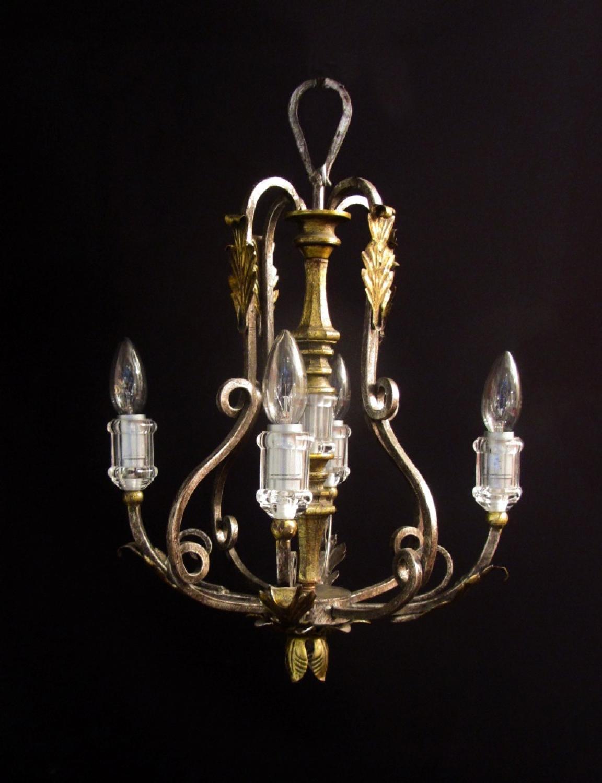 Four-Light Iron Chandelier