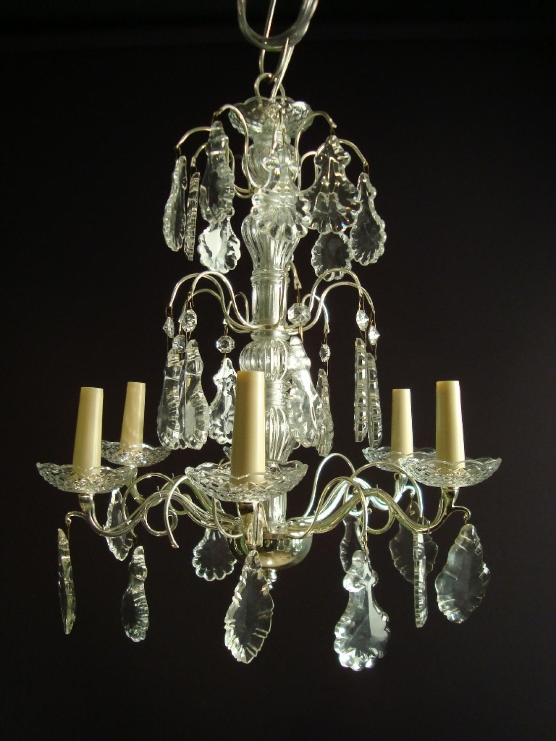 A silvered chandelier