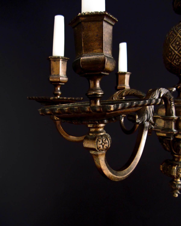 A six arm brass pineapple chandelier in chandeliers a six arm brass pineapple chandelier picture 3 aloadofball Gallery