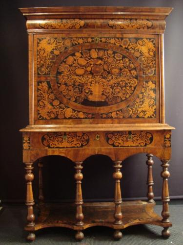 A William and Mary marquetry escritoire