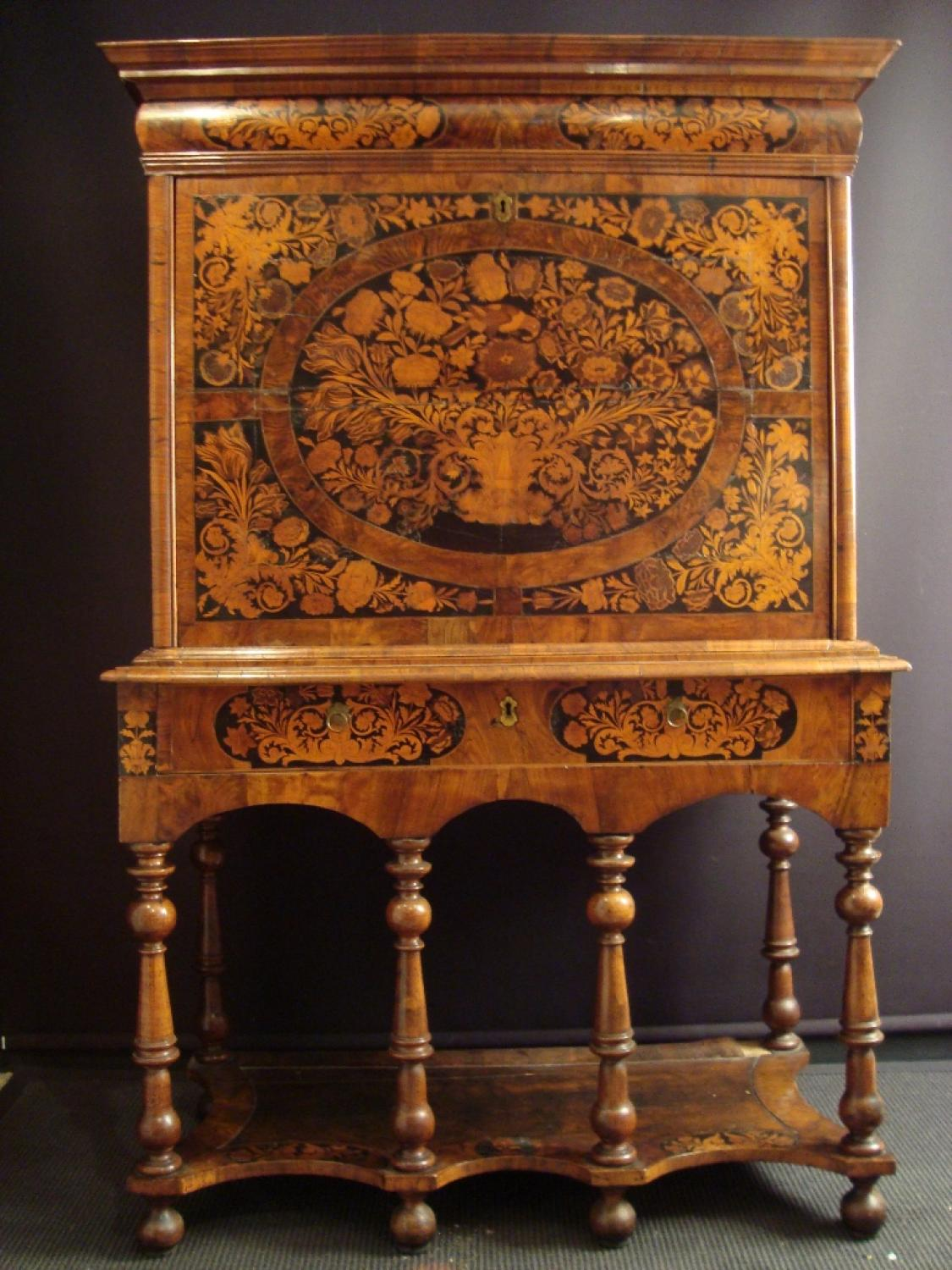 A William And Mary Marquetry Escritoire In Furniture