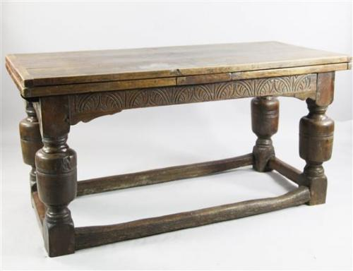 A 17th Century design oak draw leaf table