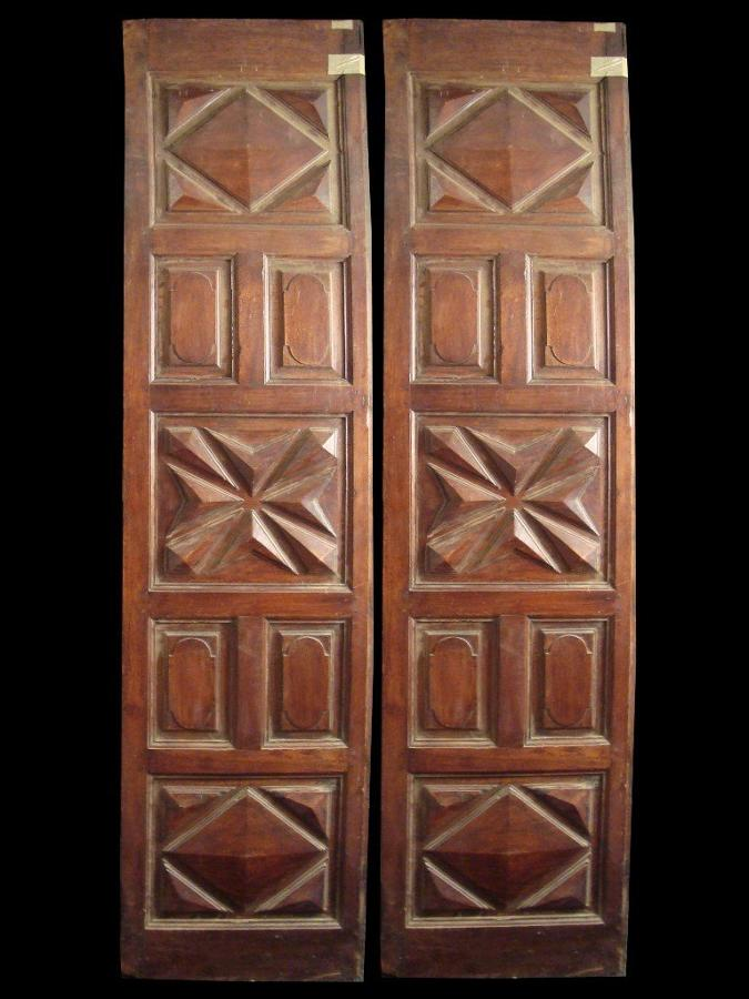 A pair of 18th Century Spanish walnut doors