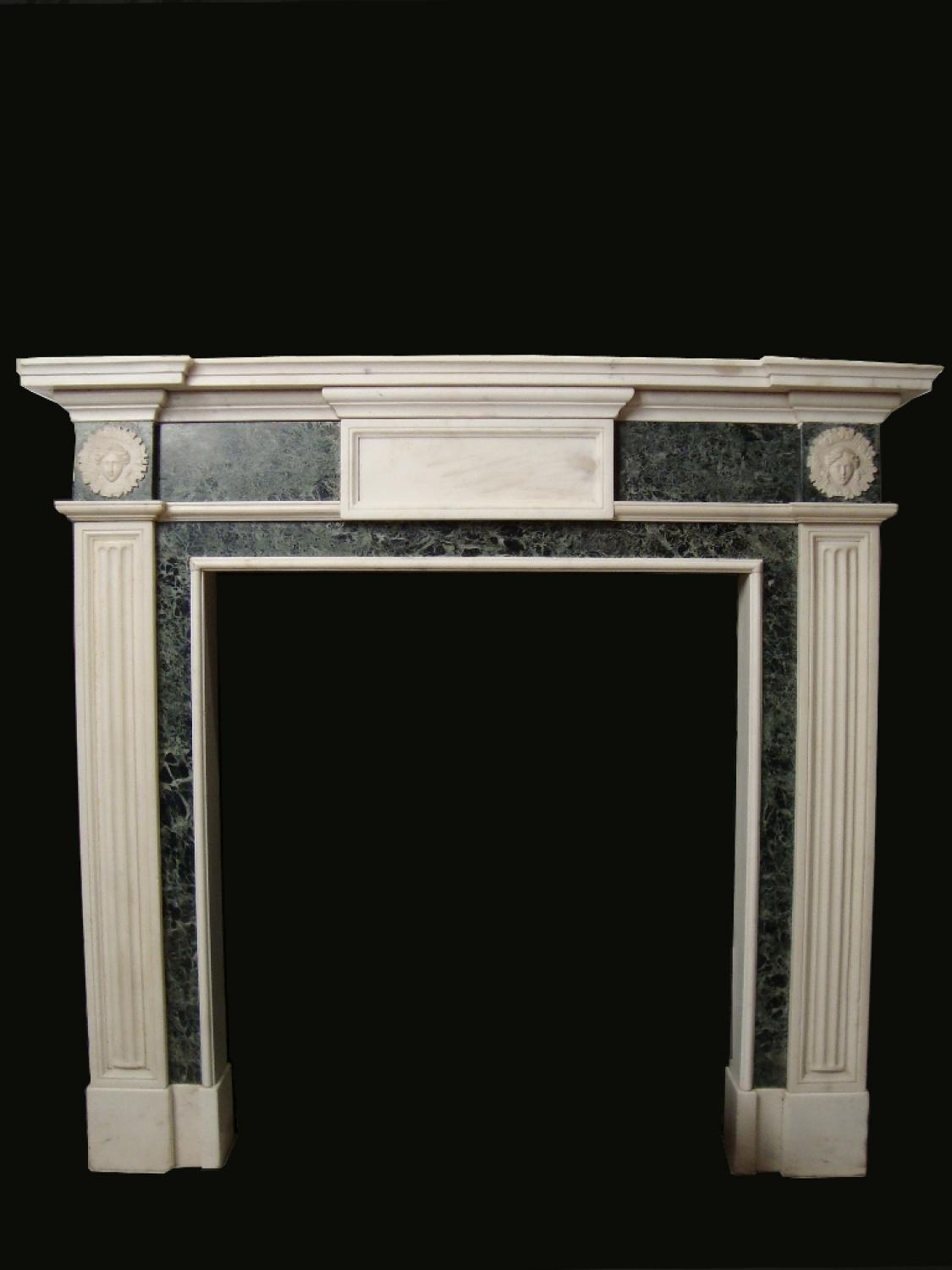 Carved and moulded marble fire surround