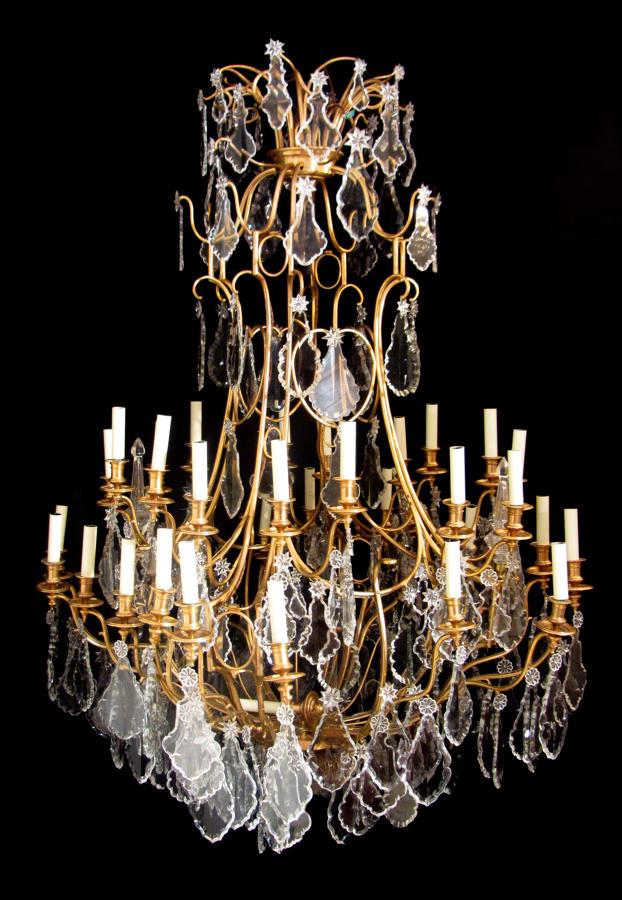 A  Magnificent  Baccarat gilt bronze chandelier