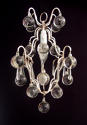 A silvered 'ball' chandelier - picture 1