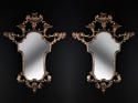 A pair of carved beech wood mirrors - picture 1