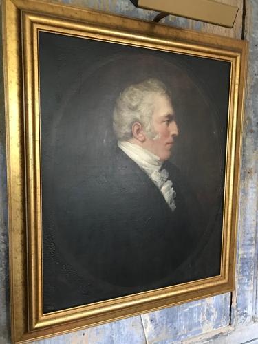 Portrait of a gentleman in profile