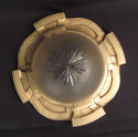 A gilt brass and frosted glass ceiling light - picture 3