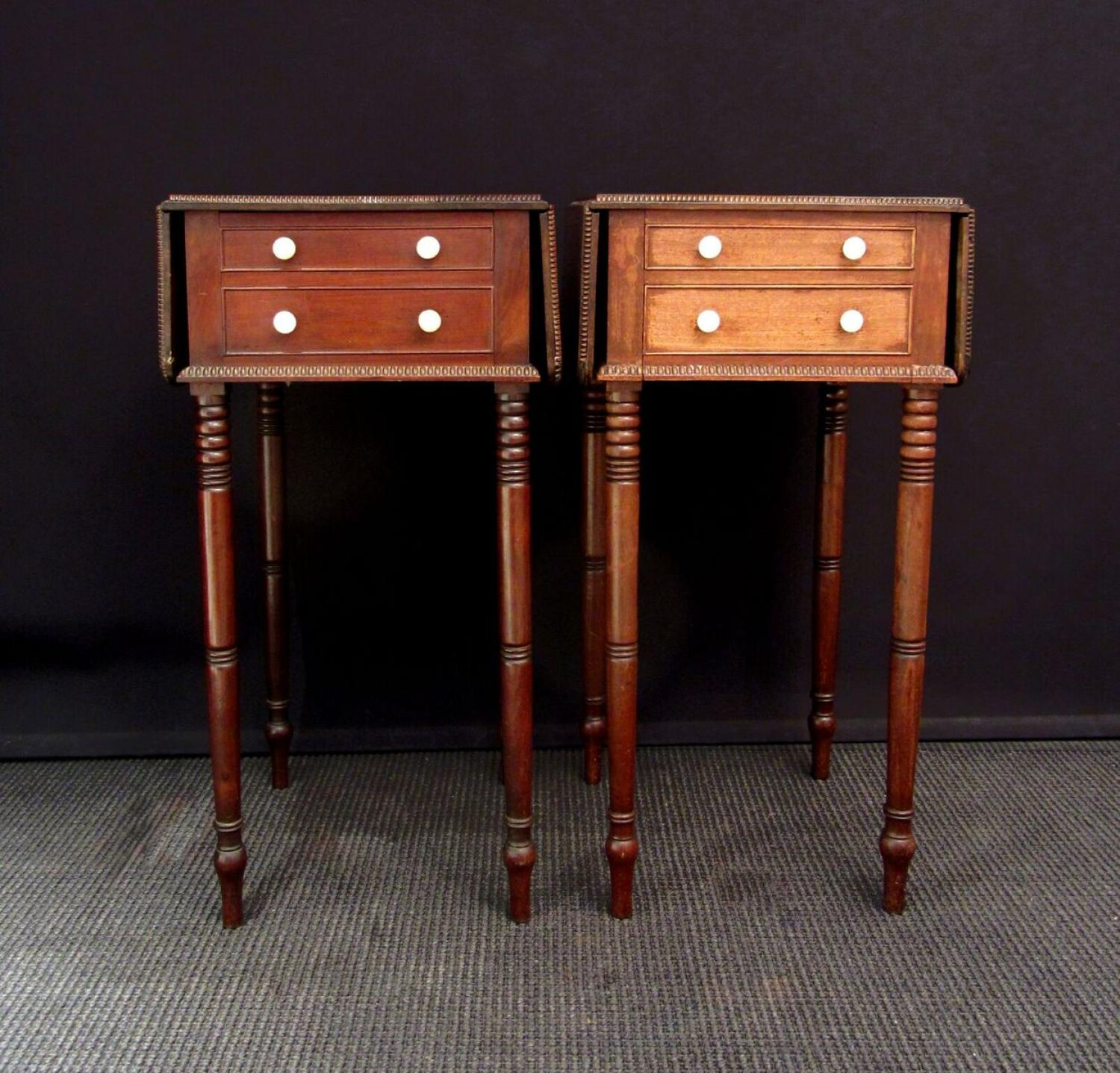 A pair of mahogany tables