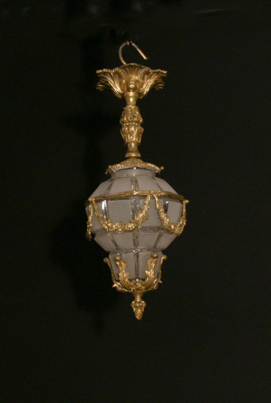 A Louis XVI style figural lantern