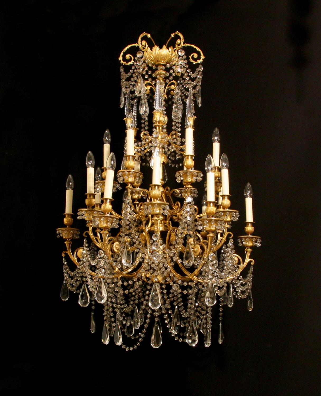 An exceptional Louis XVI style chandelier