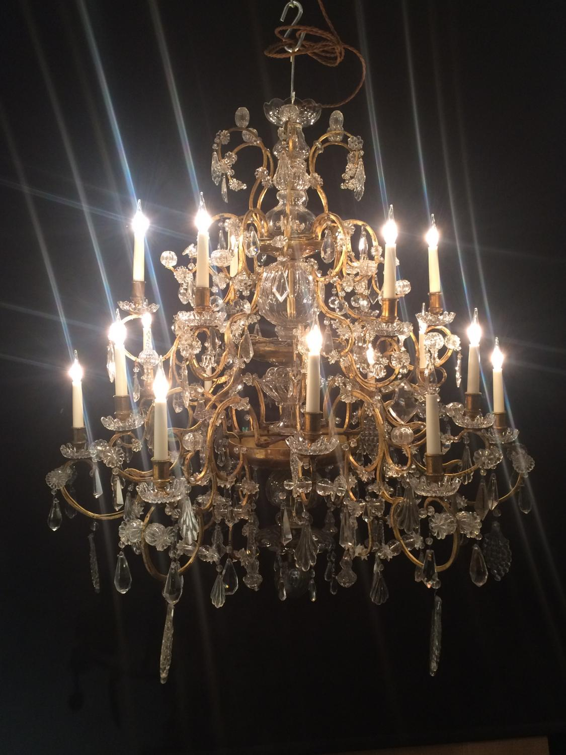 A large Genoese 18th century chandelier