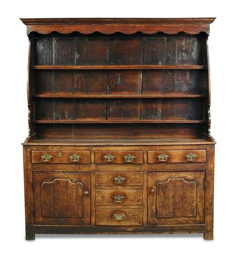 An 18th century oak dresser
