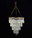A three tier cut glass icicle drop chandelier - picture 1