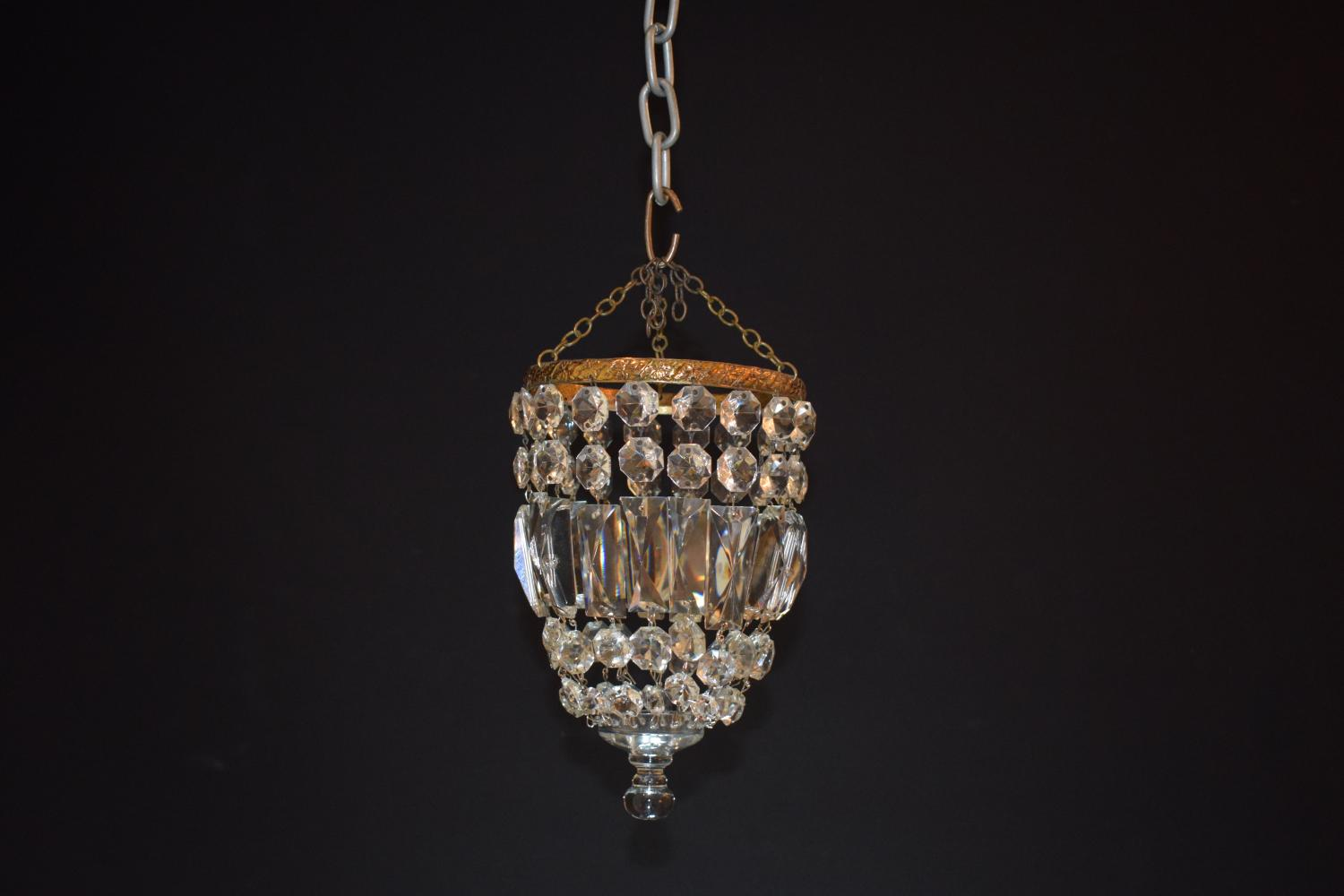 A small icicle drop chandelier