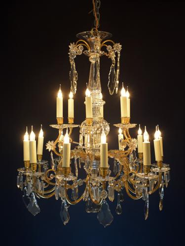 A superb quality baccarat style chandelier