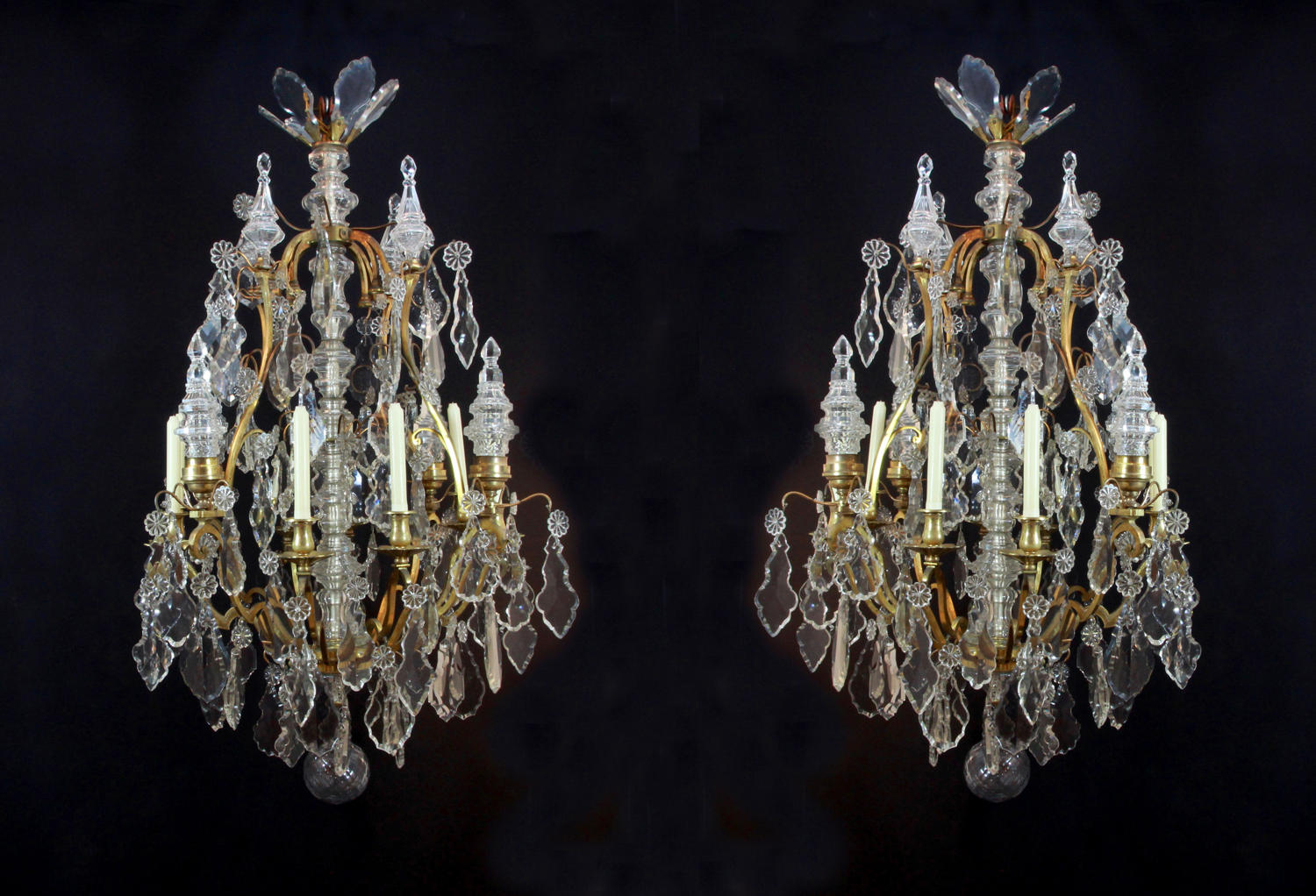 A pair of superb 18th c style chandeliers