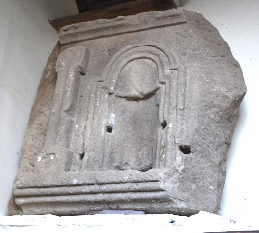 A Roman over door shrine