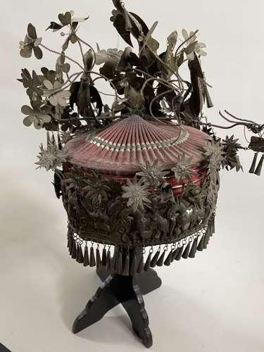 A Chinese silver headdress
