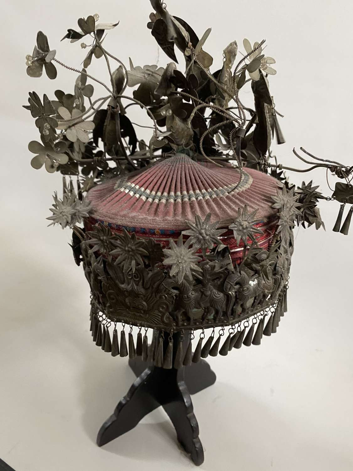 A Chinese silver headdress