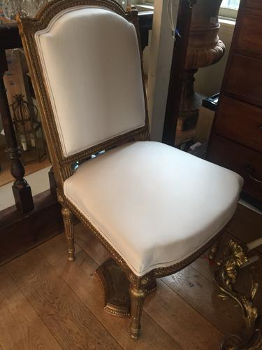 A French gilt wood dinning chair