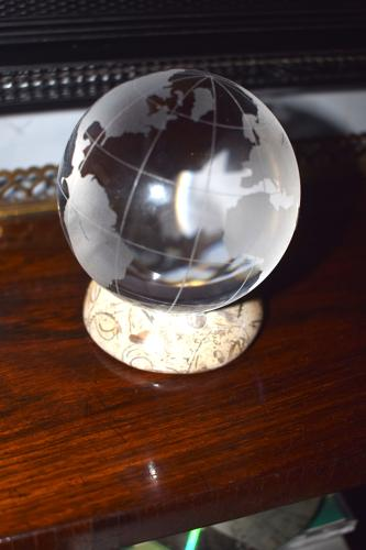 A Baccarat crystal glass orb