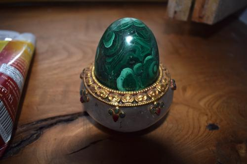 A malachite egg