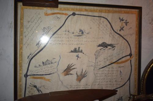 An unusual illustrated map of Dartmoor