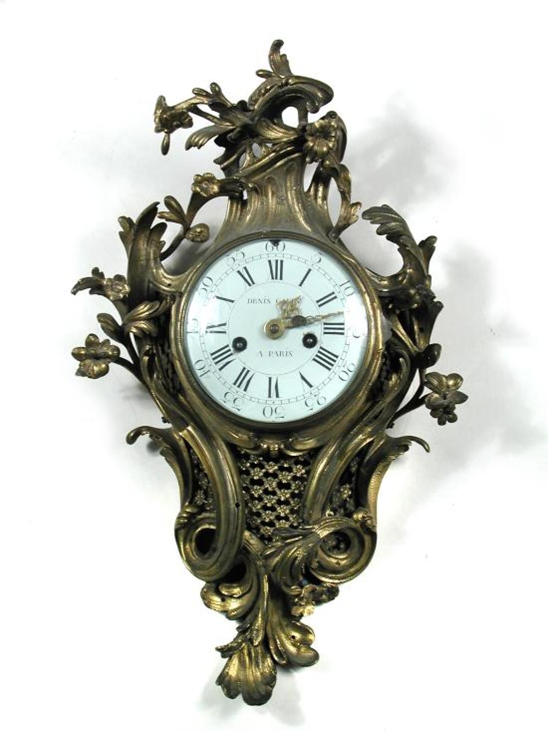 An 18th Century Rococo Cocktail Clock