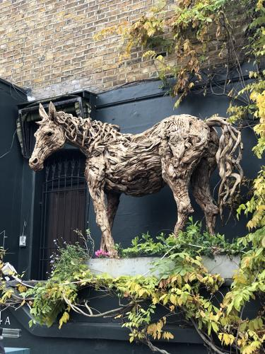 James Doran-Webb Horse Malawi Wood Sculpture