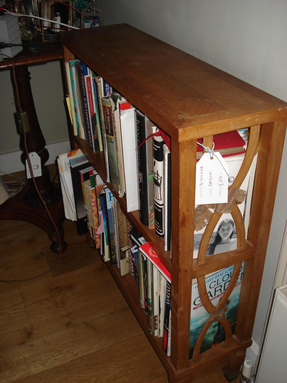 A Continental Cherrywood Narrow Bookshelf