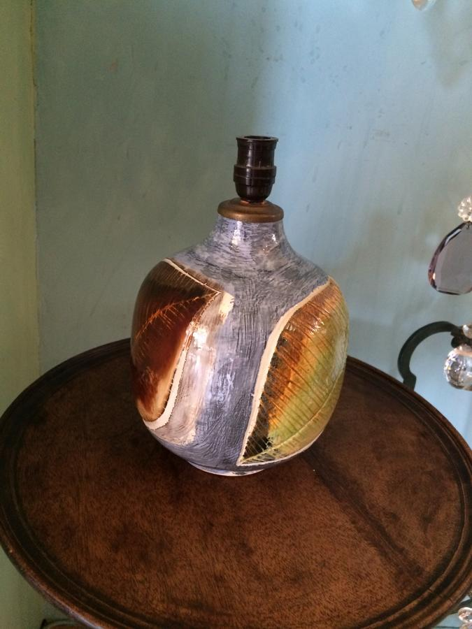 Portuguese Pottery Lamp