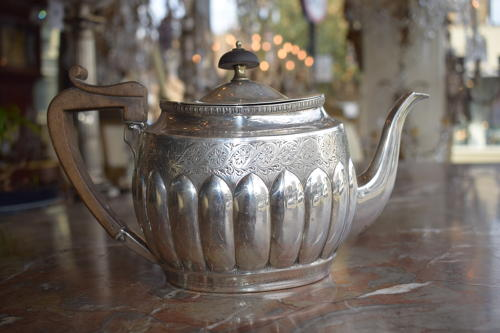 A Solid Silver Teapot