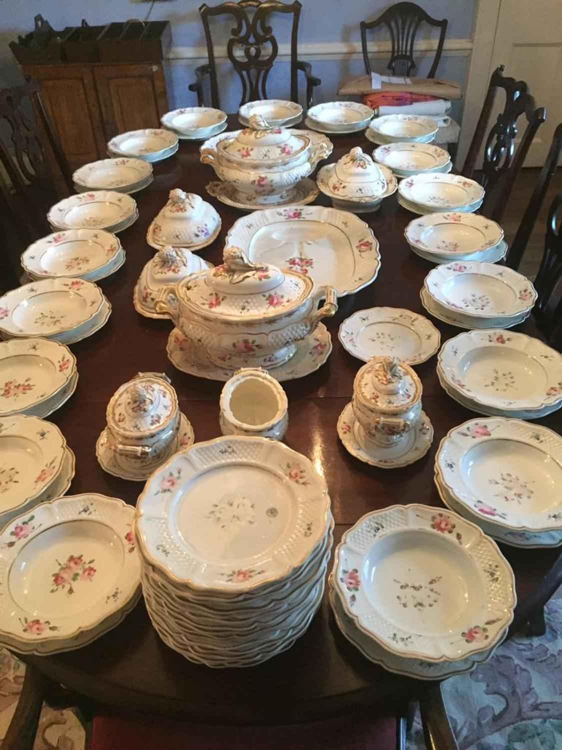 A large China dinner service