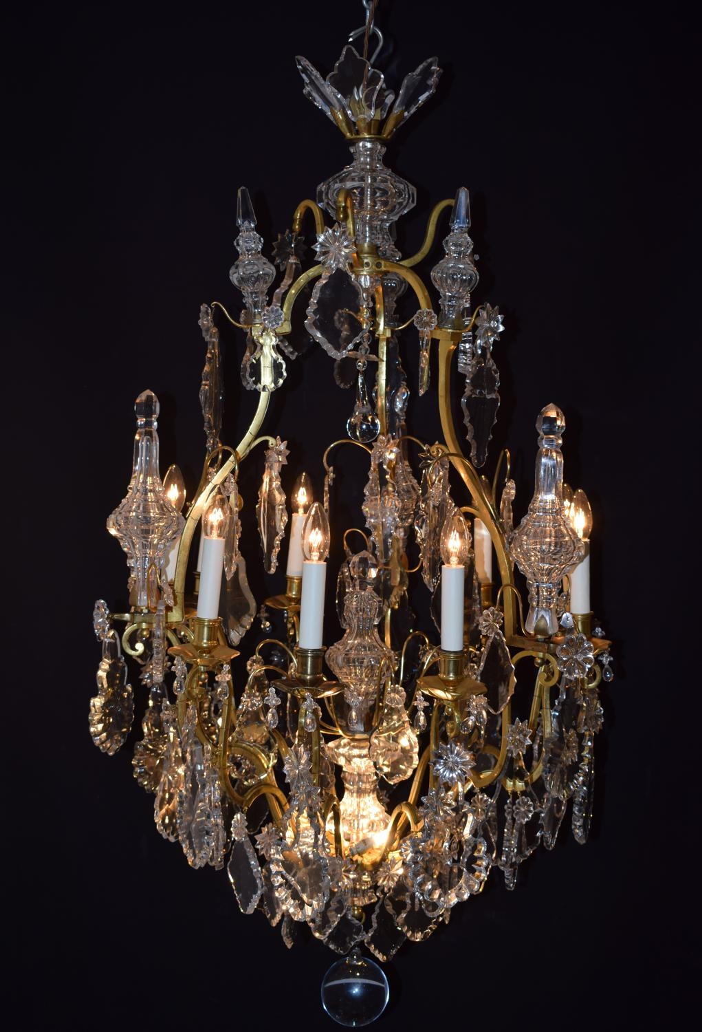 A Large Gilt Bronze Chandelier