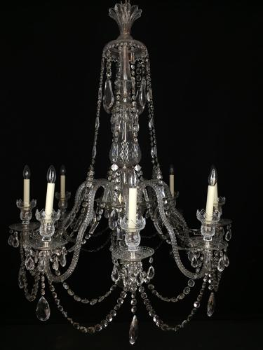 A Large Scale English Perry Cut Chandelier