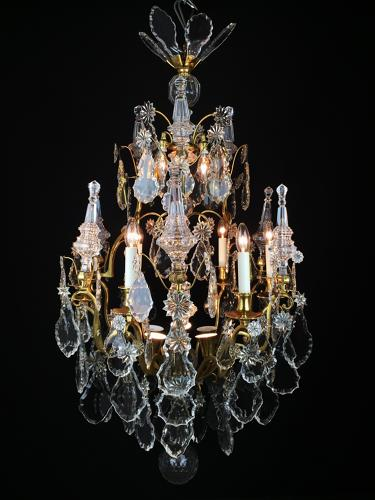 A Large Baccarat 18th Century Style Chandelier