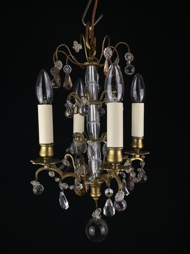 A small four light chandelier