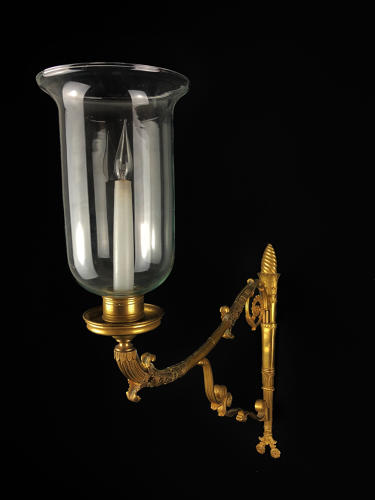 An Unusual English Regency Single Arm Wall Light