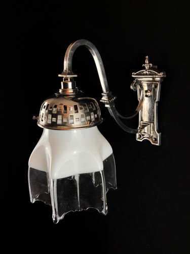 An Edwardian Silvered Wall Light