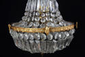 A small English waterfall chandelier - picture 3