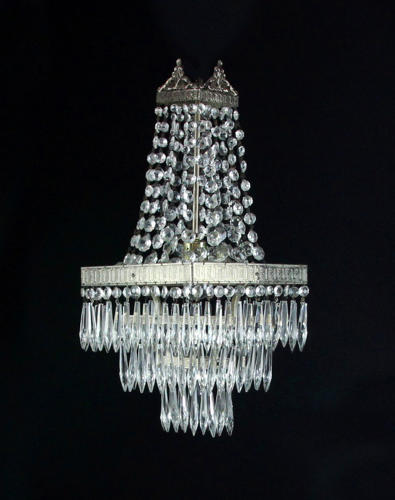 A small and unusual chandelier