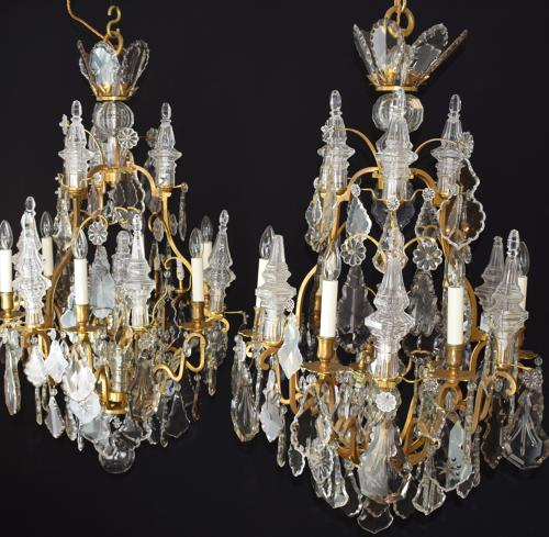 A pair of 'Henry Vian' Louis XV style chandeliers