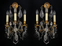 A pair of Baccarat three arm wall lights - picture 1